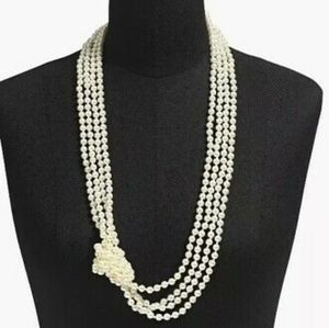 JCrew Pearl Knot Necklace